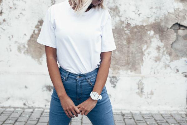 Biała koszulka damska